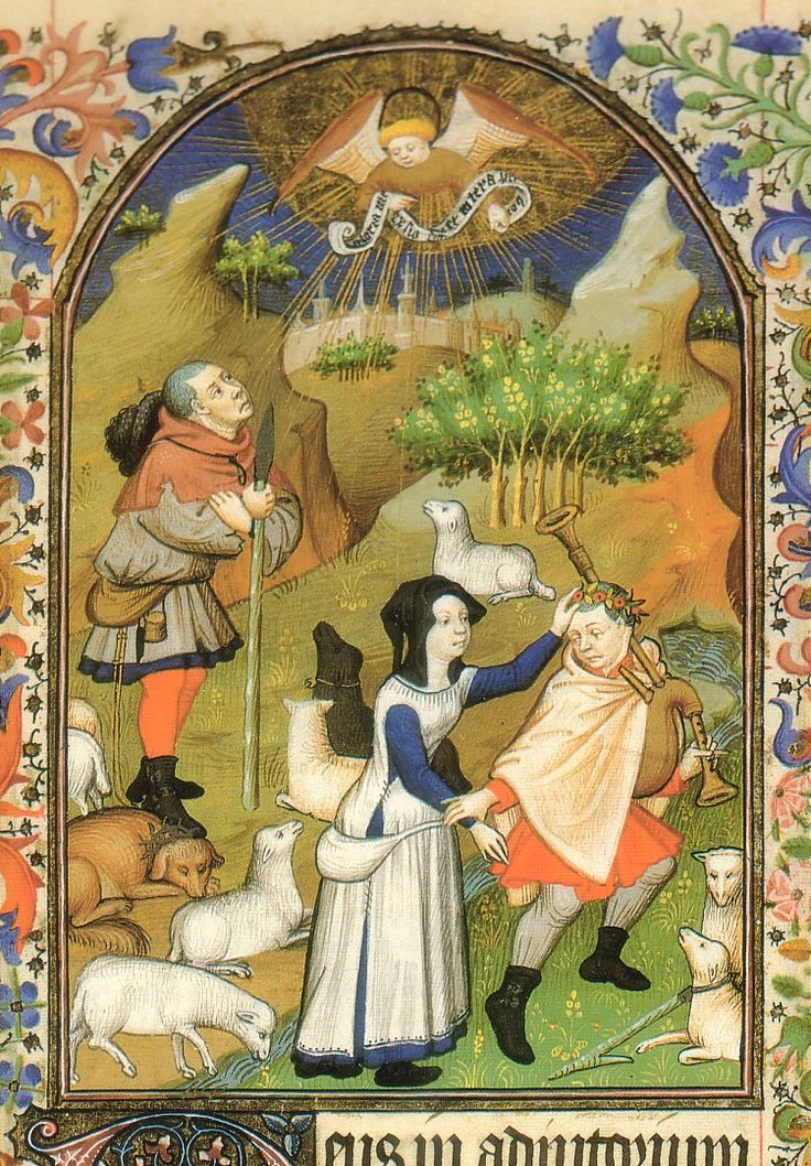 Franco flemish - late 14th c. - early 15th C. Book of hours for the use of Rouen. Naples, Biblioteca Nazionale Vittorio Emanuele III 1. B. 27, fol. 85