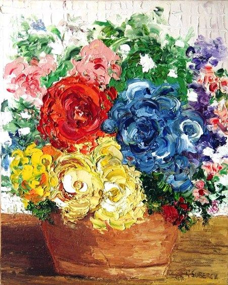 """mis flores impresionistas""...... òleo sobre tela"
