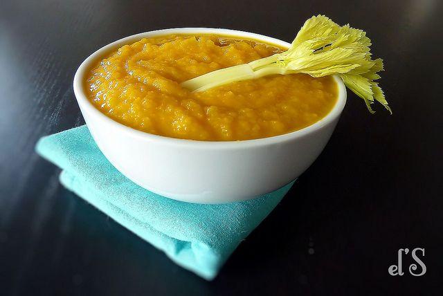 Soupe carotte, céleri et pomme.