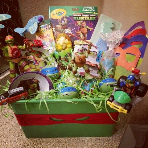 818 best gifts gallore images on pinterest diy ninja turtle easter basket negle Choice Image