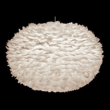Eos Shade 17.7x29.5, $399, now @Fab. Designed by Søren Ravn Christensen for Vita, the Eos lampshade made a splash when it debuted at London's 100% Design fair last year. Its oval paper shade is covered in layers of hand-applied goose feathers, forming an undulating, cloud-like profile. Each cleverly designed shade can be used as a pendant, table, or floor lamp, and emits a soft, cozy glow.