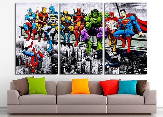 Beau Marvel, Marvel Comics Art, Marvel Comic Canvas, Marvel Decor, Canvas, Marvel  Heroes, Marvel Print, Marvel Poster, Marvel Wall Art,Marvel Art ...