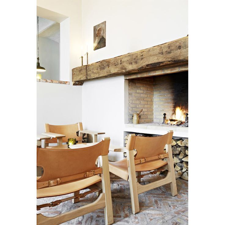 "Stol 2226 ""Den Spanska Stolen"", obehandlad ek, läder natur från Fredericia Furniture – Köp online på"