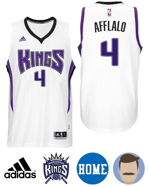 Celebrate your favorite Kings amazing season with Men's Kings Arron Afflalo Home White Swingman Jersey to show the world who you cheer for. Arron Afflalo is one of the most outstanding players in the game. Step on the scene for the next big game showing off your idol pride with this jersey. You are