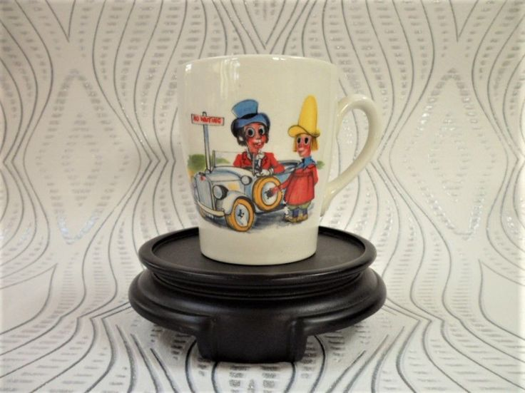 Ken Dodd's Diddymen Staffs Potteries Child's Mug 1970 Issue Transfer Decorated