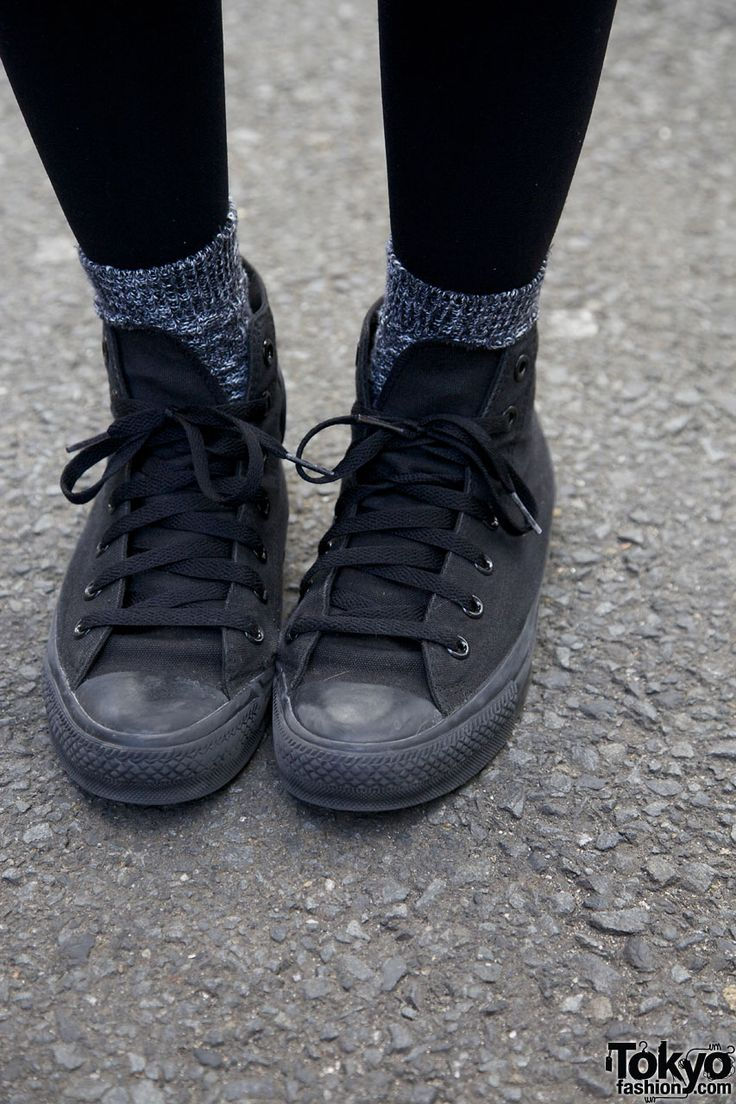all black converse tumblr - Google Search
