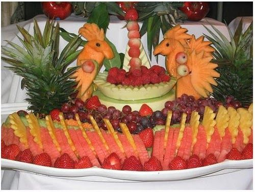Keep your serving  of food to be art.  You can amaze your friends and family with your fruit sculpture  skills. They are a healthy and inex...