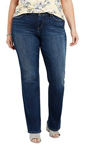 4807374d Jordachse Women's Plus Size Avery Curvy Fit High Rise Slim Bootcut Jeans