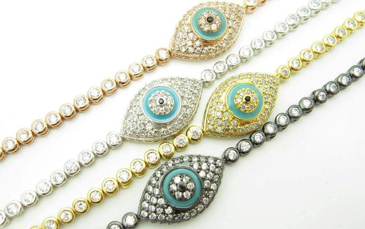 Kai evil eye tennis bracelet