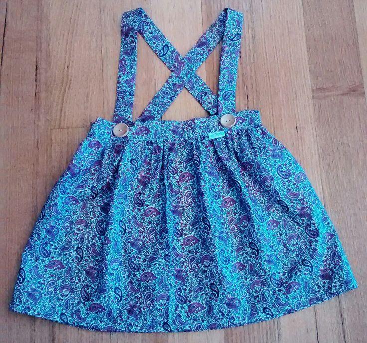 Paisley print suspender skirt