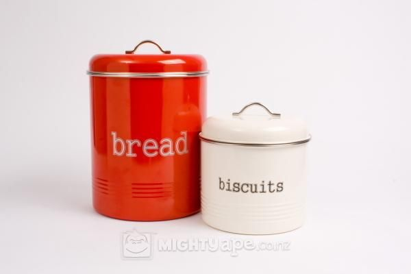 Bread Bin and Biscuit Tin Set - Red