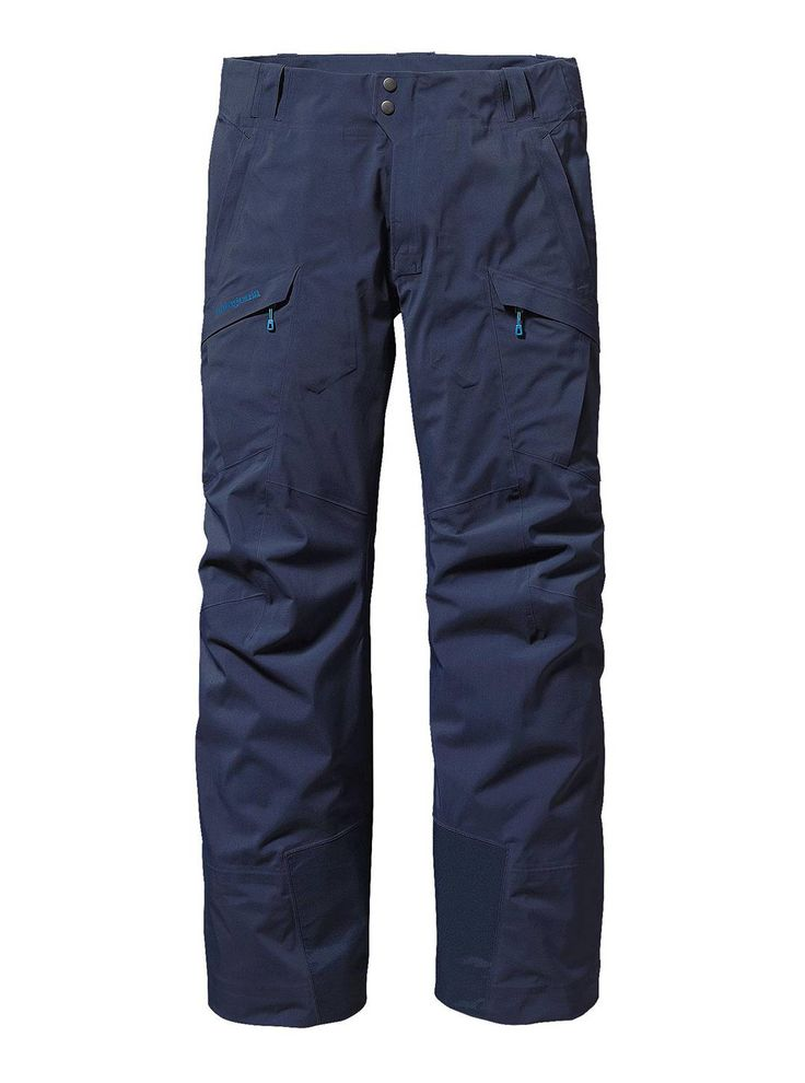 It's sunny outside but the weather report says its -15°C. Stay toasty in the Patagonia Untracked Pant. The premium fabric package combines a supple, yet resilient 3-layer nylon GORE-TEX® fabric for waterproof/breathable and windproof protection with a soft, brushed interior to increase warmth on cold alpine days while managing moisture. Available at Patagonia.