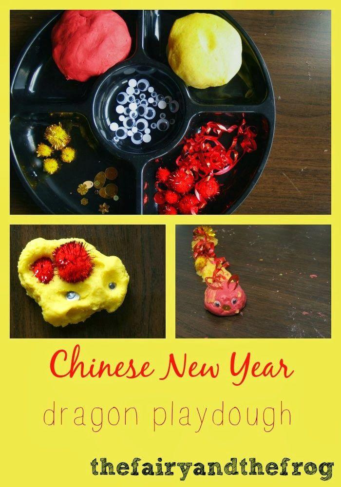 Chinese New Year inspired dragon playdough