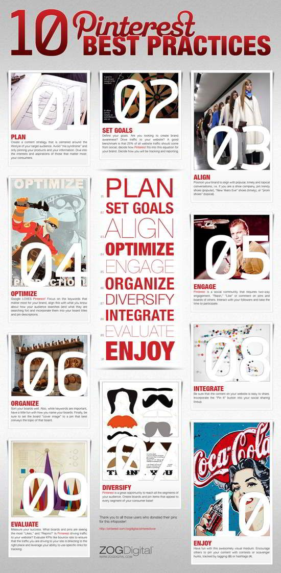 Pinterest Best Practices #socialmedia #infographic #infographics