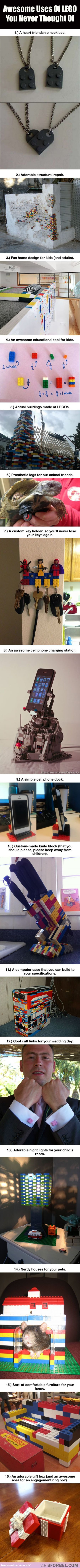 16 Awesome Uses Of LEGO You Probably Never Knew Of…