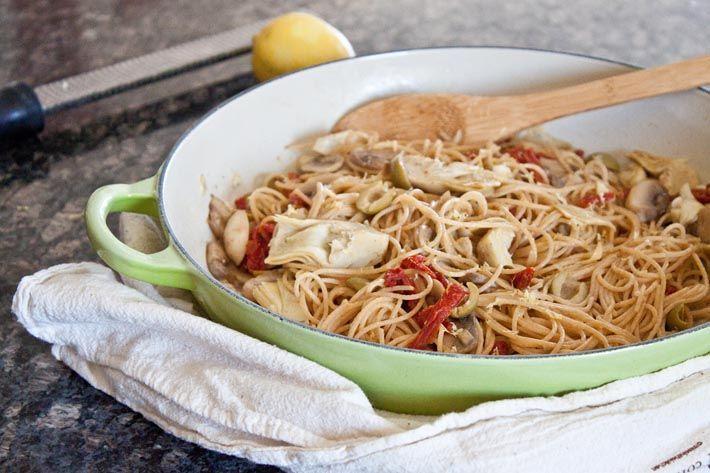 Dinner for Two: Mediterranean Pasta {vegetarian}