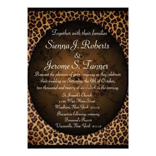 Cheetah Print Wedding Invitation