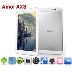 Ainol AX3 3G Tablet PC Phablets 7inch IPS MTK8382 Quad Core 1.3GHz 1GB RAM 16GB GPS Dual SIM Phone  Celulares Directos De Fabrica  http://www.exportandgo.com/product_info.php?cPath=158_239_240&products_id=4083 http://www.exportandgo.com