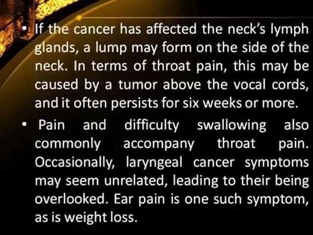 Is ear pain a cancer symptom?