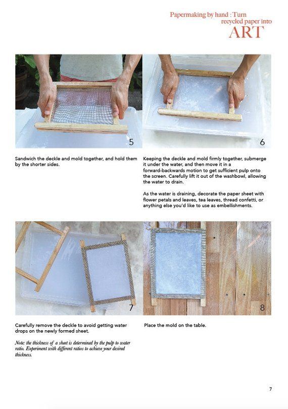 Papermaking By Hand Tutorial Recycled Paper How To Make Paper Handmade Paper