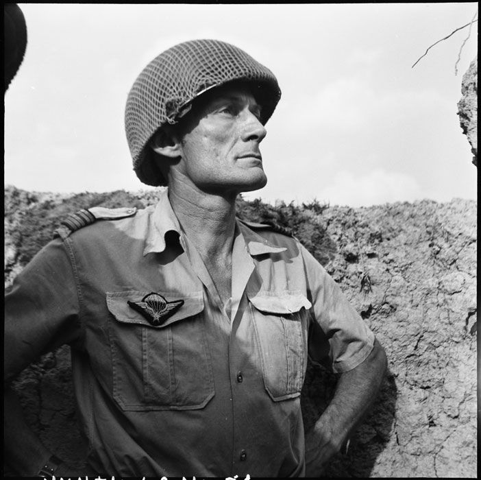 Lieutenant-Colonel Langlais. Commanded 2nd Brigade Paratroopers. Broke his ankle when air dropped into Dien Bien Phu. Was flown out only to return and became Commander of the Central Section of the complex, fighting on until the surrender of Dien Bien Phu
