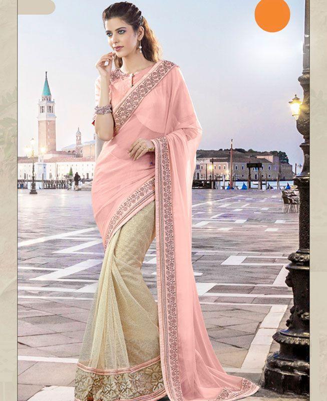 #hey @a1designerwear . Item code: ADF80072 . Buy Superb Pink Georgette #Saree #onlineshopping with #worldwideshipping at  https://www.a1designerwear.com/superb-pink-georgette-sarees-8   . #a1designerwear #a1designerwear . #instashop #worldwide #thankyou