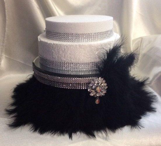 Feather & diamante design wedding cake stand   by CrystalWeddingUK, £46.00