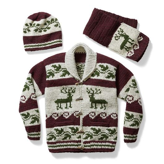 Women's Cowichan Sweater - Deer
