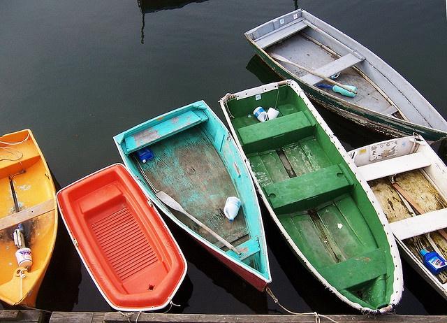 Dinghies, Rockport Harbor, Massachusetts, USA by David, via Flickr