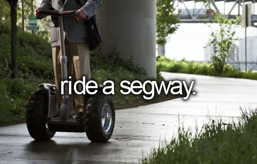 That segway! I saw that at Intramuros once and perhaps, riding on this would be such an adrenaline rush. Rock it like a child! :))