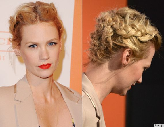 Lindsay Lohan And January Jones Messy French Braids: Who Wore It Better? (PHOTOS)