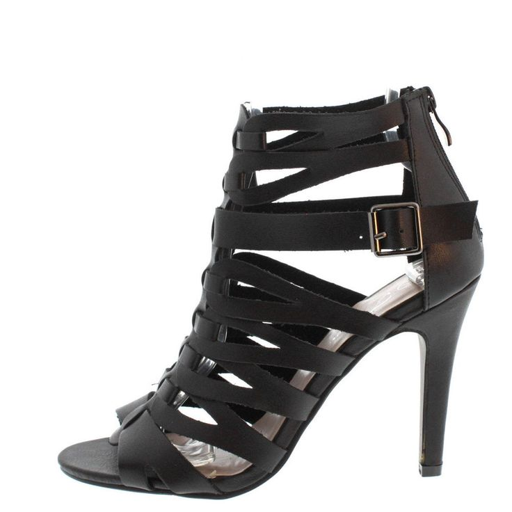 Forever Black womens cut out heels US shoe size womens 8.5 #Forever #CutOutHeels