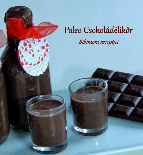 Bibimoni Receptjei: Paleo csokoládélikőr