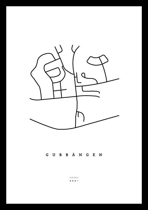 Karta över Gubbängen, Stockholm via kvarteren. Click on the image to see more!
