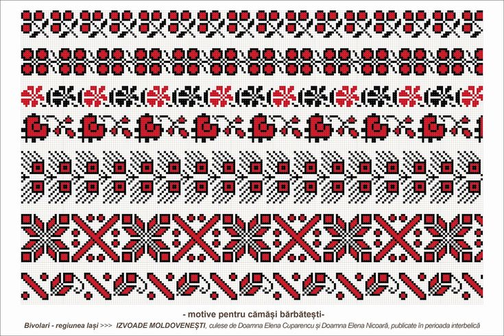 Semne Cusute: romanian traditional motifs - MOLDOVA - Iasi, sat: Bivolari