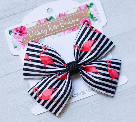 Pretty Rose print hairbows