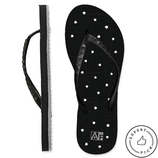 Product Image for Women's Star AquaFlops Shower Shoes in Black 1 out of 2