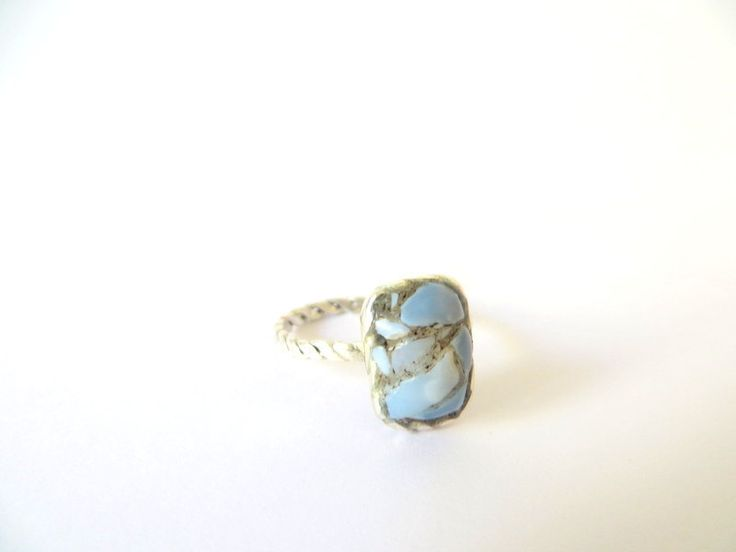 Opal Mosaic Sterling Silver Ring by Picossa on Etsy