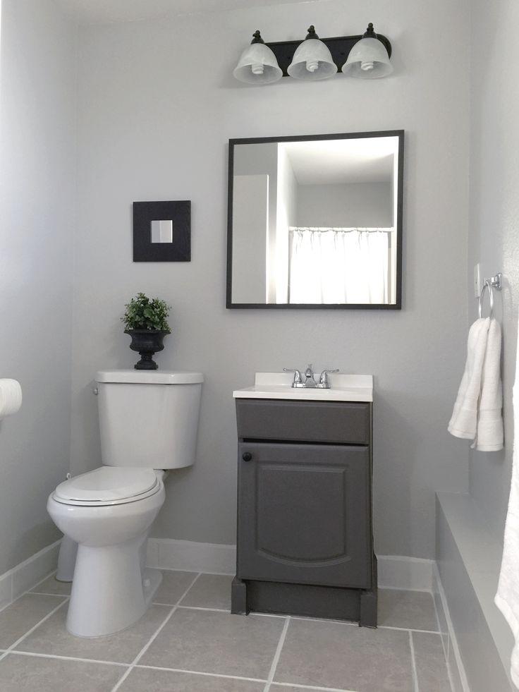 Small Garage Bathroom   Painted : Vanity U0026 Wall(Behr  Dolphin Fin  Gray