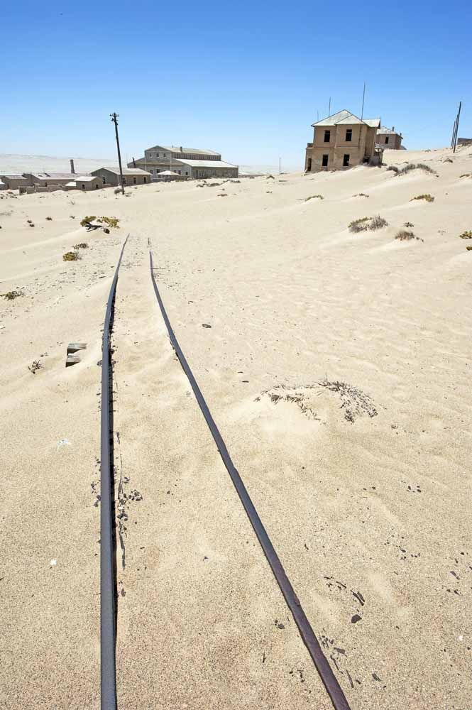 The end of the line at Kolmannskuppe, diamond ghost town, Namibia