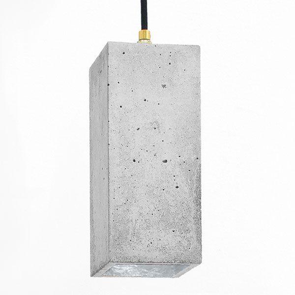 B2 Rectangular Pendant Light – Grey & Silver