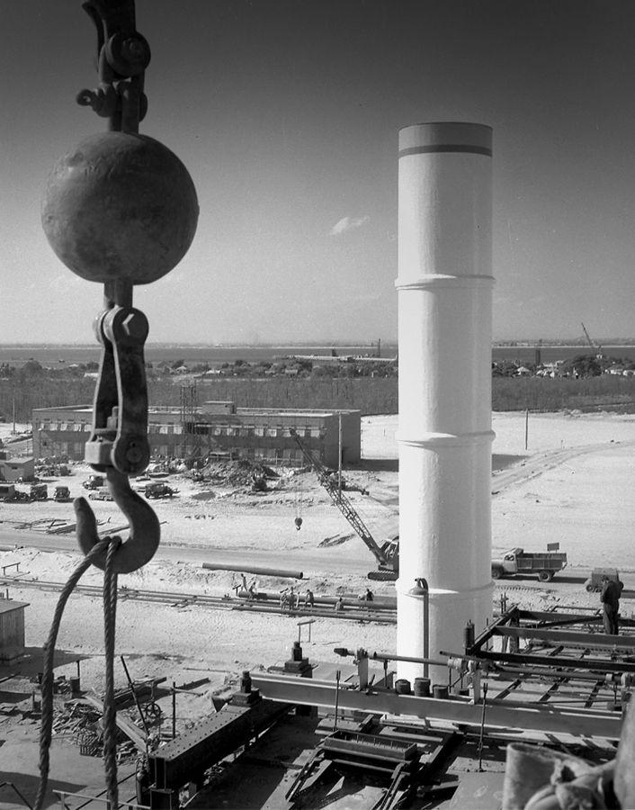 Site of Caltex Refinery AOR at Kurnell, November 1954. Max Dupain photo.