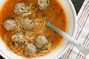 Meatball and Spaghetti Soup #tomato #dinner #lunch #quick