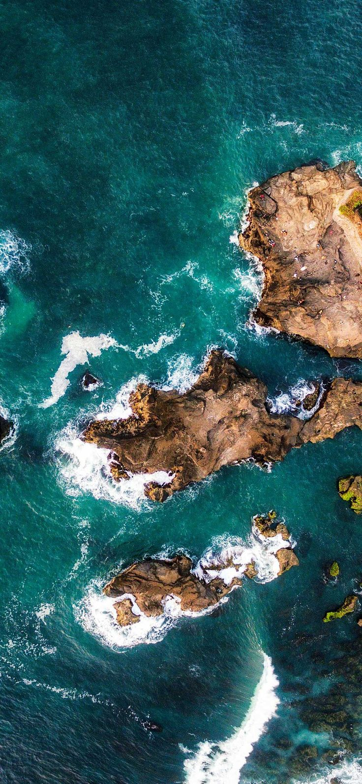 Iphone Wallpaper Island rocks bali indonesia aerial view