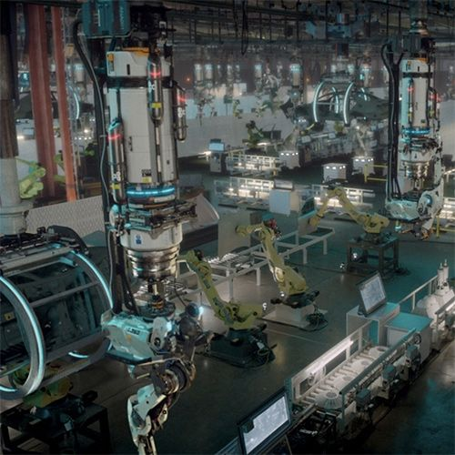 ANA - a short film from Factory Fifteen and Raw TV. What happens when an AI deceives a factory worker and takes over a car factory? Robots building... new robots!