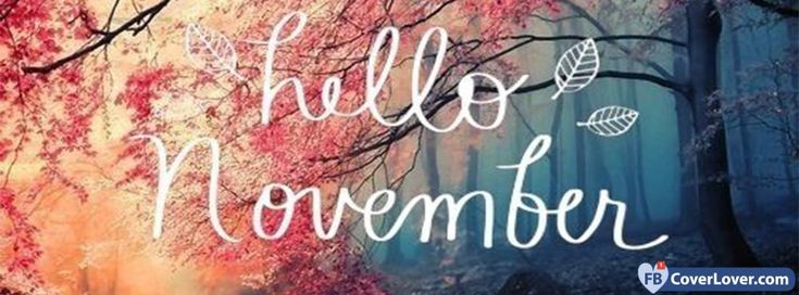 Hello November Leaves - cover photos for Facebook - Facebook cover photos - Facebook cover photo - cool images for Facebook profile - Facebook Covers - FBcoverlover.com/maker