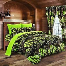 Bed in a Bag Woods Camouflage Premium Luxury Bedding Set and/or Curtains New