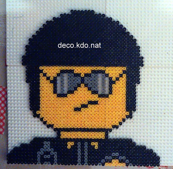 Bad Cop/Good Cop - The Lego Movie hama perler beads by Deco.Kdo.Nat