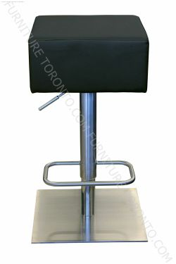 Contemporary Design Backless Bar Stool - Adjustable #BarStool in Stainless Steel