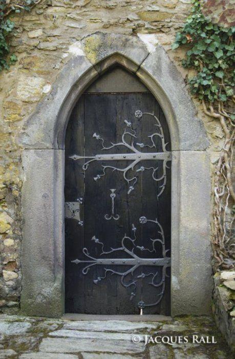 Gothic church door